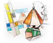 ステンドグラス体験教室画像