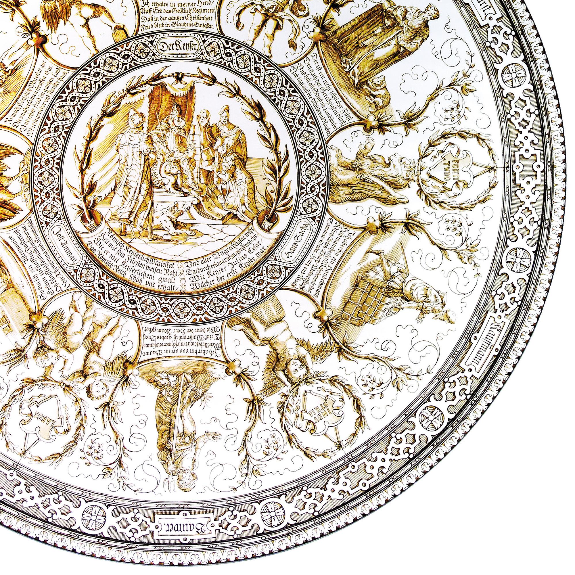 J&Lロブマイヤー 彩色大皿 1887年頃 HP